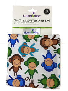 Reusable Snack Bags- Monkey Mania