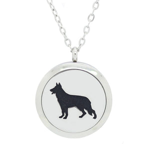 Aromatherapy Essential Oil Diffuser Necklace - Dog