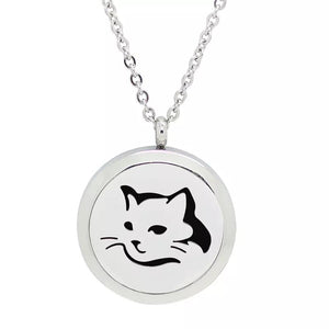 Aromatherapy Essential Oil Diffuser Necklace - Cat