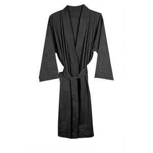 Organic Cotton Knitted Bathrobe - Grey