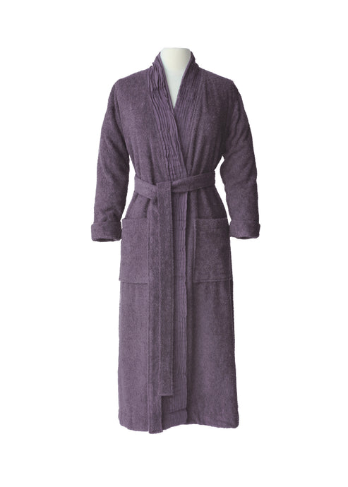 Pleated Terry Bathrobe - Lavender