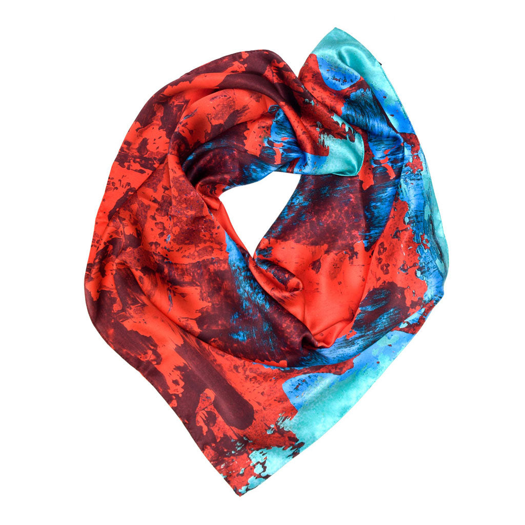 Red / Blue Geode scarf
