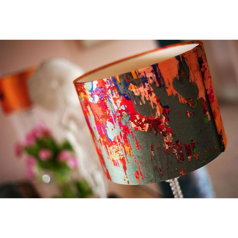 Grey Stucco Velvet Lampshade