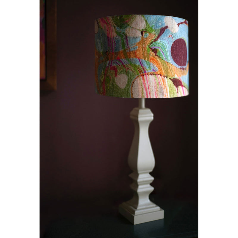 Beige/Pink Ripple Linen Lampshade