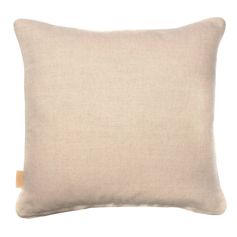Beige Ripple Marbled Linen Square Cushion