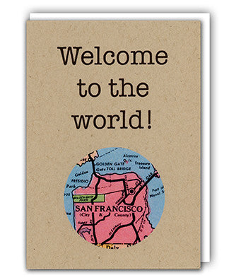 Welcome to the world map card by Granny Panty Designs