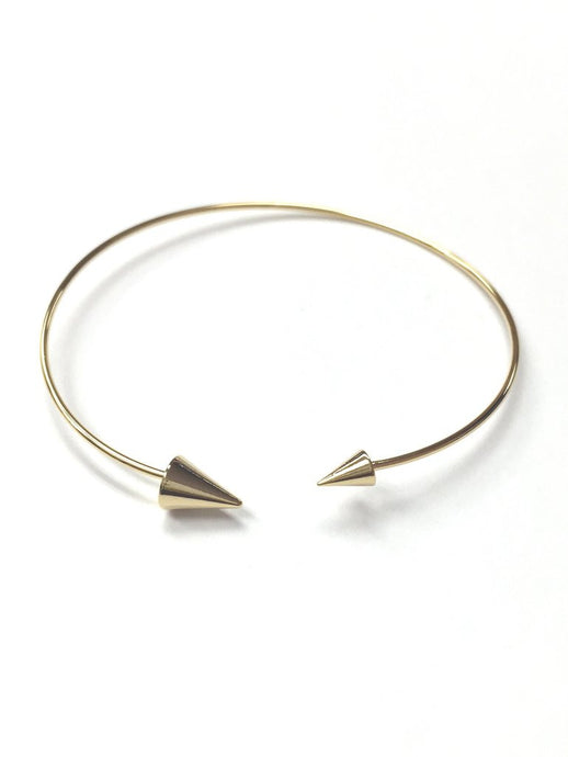 Gold or Silver Spike Bangle