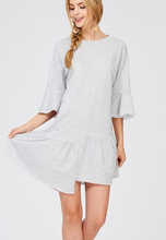 French Terry Ruffle Bottom Dress