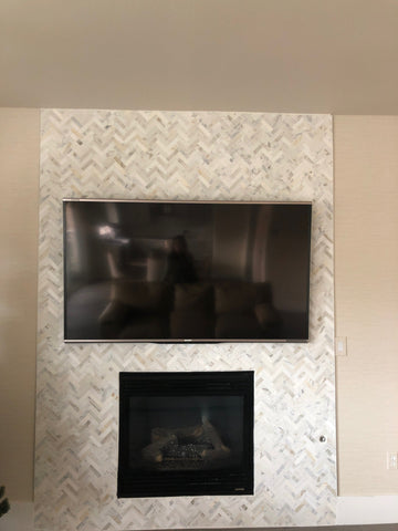 Calacatta Gold Herringbone 1X3 Mosaic Polished/Honed