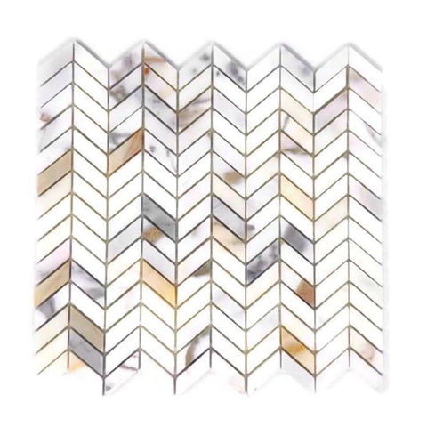 Calacatta Gold Mini Chevron Mosaic Polished/Honed