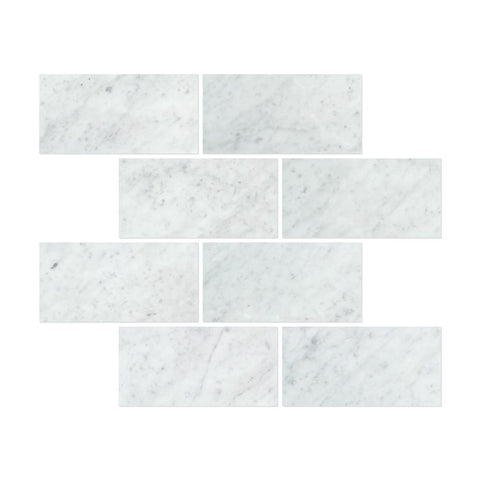 Carrara White Marble 12x24 Field Tile Polished/Honed