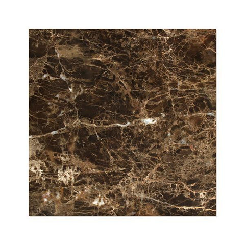 12X12 Emperador Dark Polished or Honed Field Tile