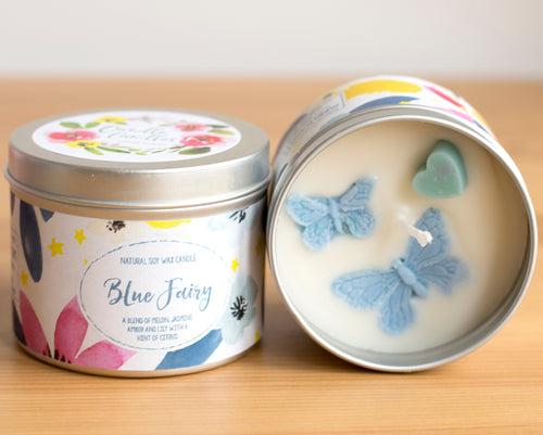 Blue Fairy Natural Soy Wax Candle - Standard Size (8oz)