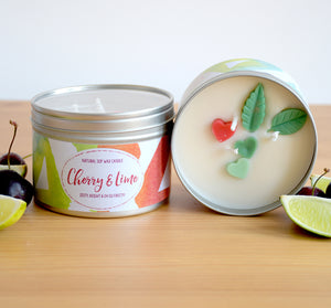 Cherry and Lime - Large Three Wick Candle (14oz)