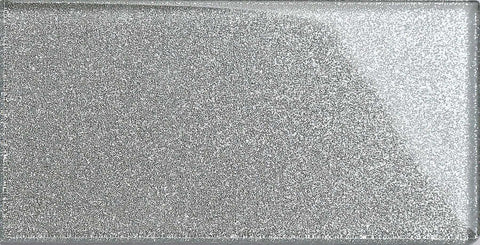 Silver Glitter Metro Tile 75x150mm  (MT0113)