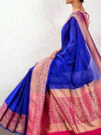 Royal Blue Banaras Handloom Saree