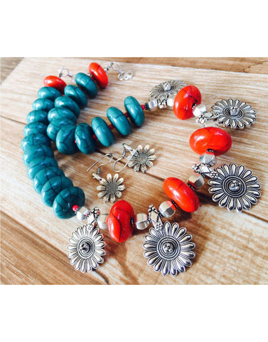 Sunflower With Colored Beads
