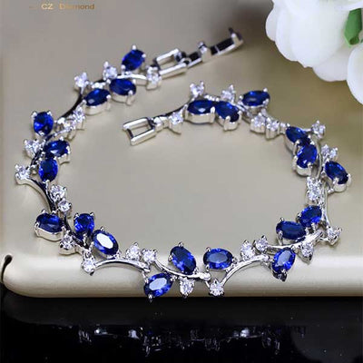 Natural Crystal Silver Bracelet best mother's day luxury gift - jpgstorepro.com