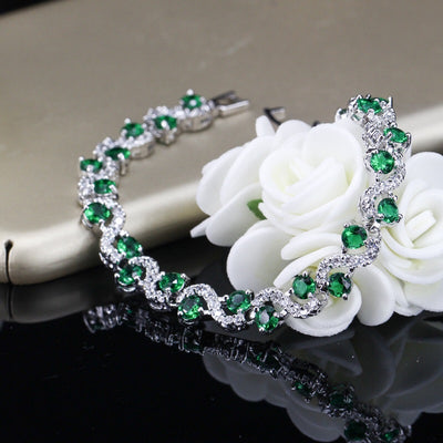 Emerald Birthstone Ring Set best mother's day luxury gift - jpgstorepro.com