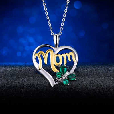 Emerald Mom Necklace best mother's day luxury gift - jpgstorepro.com