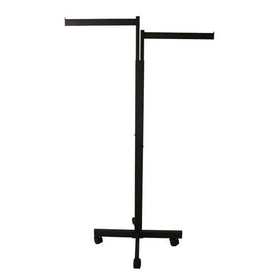 black two way garment clothing rack