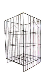 GRID DUMPBIN WITH ADJUSTABLE BOTTOM - 18 x 18 x 30