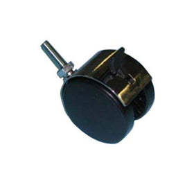"CASTER 60 MM WITH BRAKE TWIN WHEEL 3/8"" THREADED STEM 550# CAPACITY"