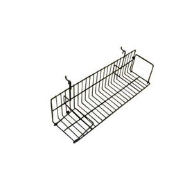 gridwall slatwall video shelf black 24 inch