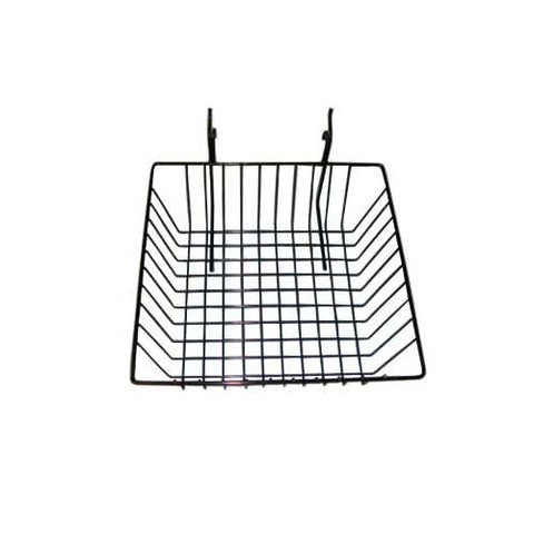 12 x 4 x 4 grid slatwall basket black