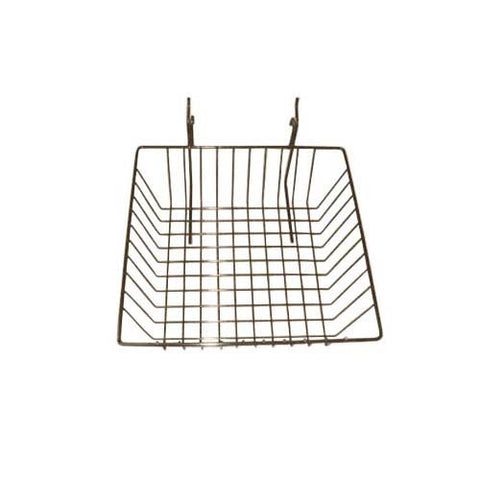12 x 12 x 4 grid slatwall basket chrome