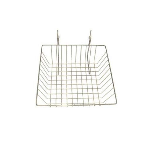 12 x 12 x 4 grid slatwall basket white