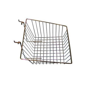 12 x 12 x 8 slant basket grid slatwall chrome