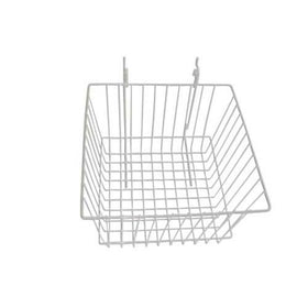 12 x 12 x 8 white slatwall grid basket