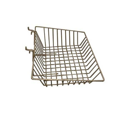 15 x 12 x 5 slant basket chrome
