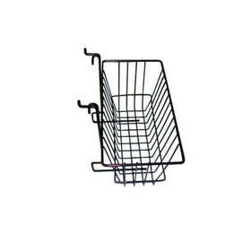 12 x 6 x 6 black grid slatwall basket