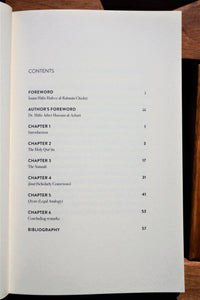 Table of contents of the book The Four Sources of Shariah