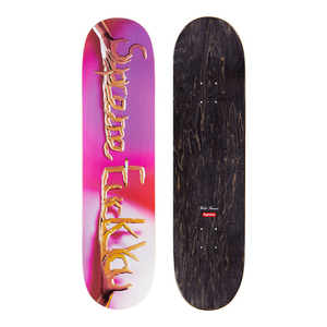 "SUPREME - SKATEBOARD DECK ""F**K YOU"" - PINK (F/W 2018)"