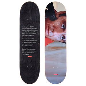 "SUPREME - SKATEBOARD DECK ""SCARFACE SHOWER SCENE"" - MULTI (F/W 2017)"