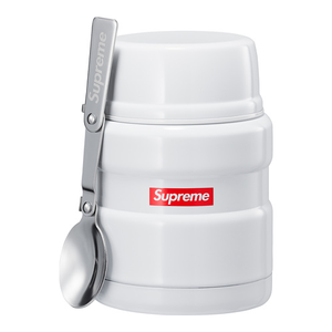 SUPREME - 16oz THERMOS STAINLESS KING FOOD JAR & SPOON - WHITE (F/W 2018)