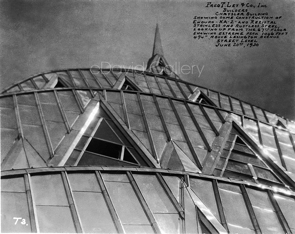 The Chrysler Building Dome Construction, View 2