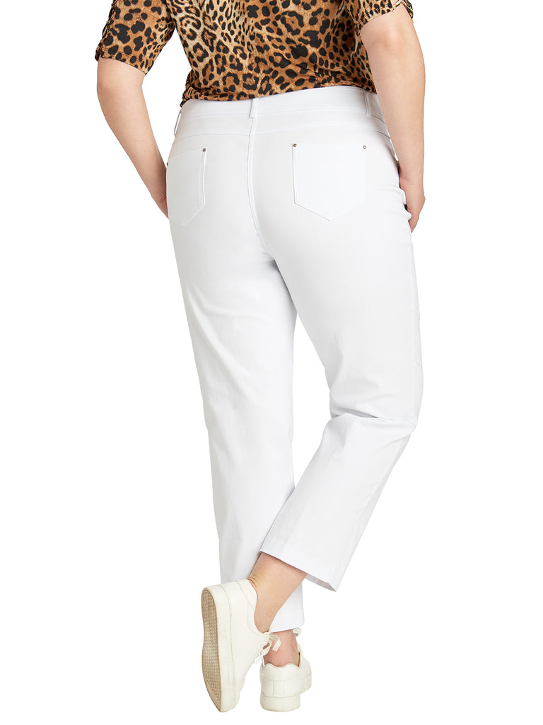 Plus Five Pocket Stretch Ankle Pants