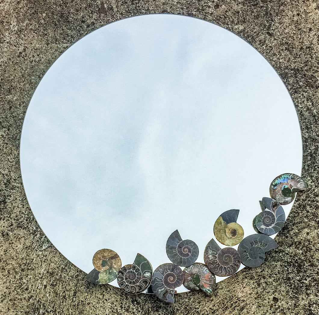Ancient Ocean Reflections | Mosaic Mirror