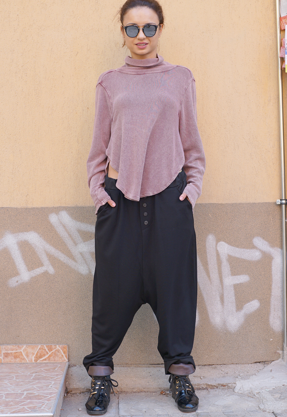 Baggy Fall Winter Drop Crotch Pants