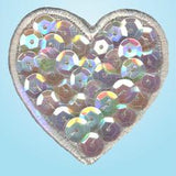Wrights Iridescent Heart with Sequin White