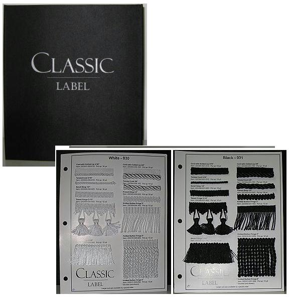 JKM Classic Label Trims Collection Sample Book