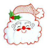 JKM White Santa Applique (Iron On)