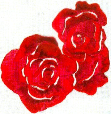 JKM Large Rose Bloom Applique (Iron On)