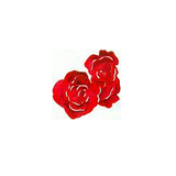 JKM Large Rose Bloom Applique Iron On