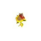 JKM Sunflower/Butterfly Applique Stick On