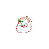 JKM White Santa Applique Iron On